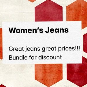 Women's jean, great brands great prices
